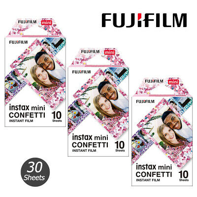 For Fujifilm Instax Mini 8 9 70 90 Instant Film Camera photo 30 Sheets Confetti