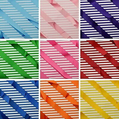 Stripes On Plain Coloured Grosgrain Ribbon Hair Bow Arts & Crafts 10mm 25mm 38mm