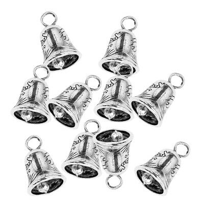 Pack of 10pcs Tiny Mini Bells Craft Decorative Chinese Style Tibetan Silver