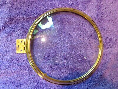 Reproduction Polished Brass Banjo Clock Bezel With Convex Glass