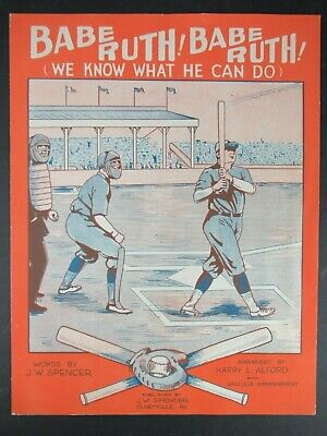 Vintage 1928 Babe Ruth Sheet Music