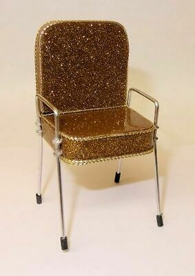 DOLLHOUSE Beauty Salon Shampoo Chair Red Suede 1:12 Scale Doll House Miniatures