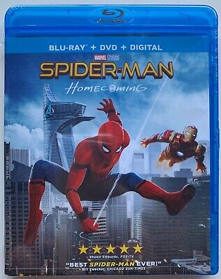 New Marvel Spider Man Homecoming Blu Ray Dvd Digiatl Hd 2 Disc Set Free Shipping