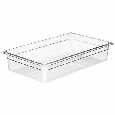 "Cambro 14CW135 Camwear Clear Full Size x 4"" D Food Pan"