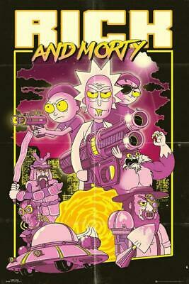 Maxi Poster 61cm x 91.5cm new and sealed Free Rick And Morty