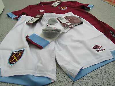 Official West Ham United Junior Kid's Home Full Kit 2018/19, 11-12, 13-14 Years