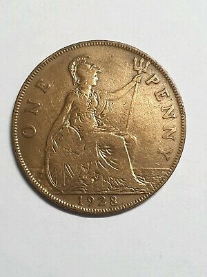 Dated : 1928 - One Penny - 1d Coin - King George V - Great Britain