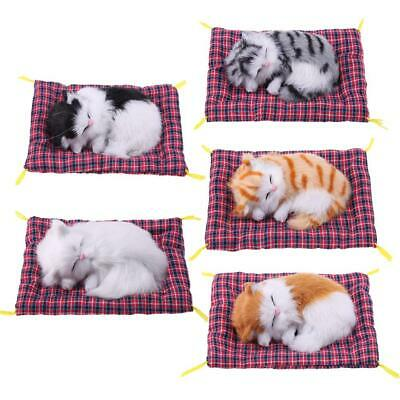 Cute Stuffed Toy Animal Simulation Doll Plush Sleeping Cat Toy with Sound H1