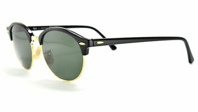eff97929a RAY BAN RB 4246 CLUBROUND Sunglasses 901/58 Black Gold Frames ...