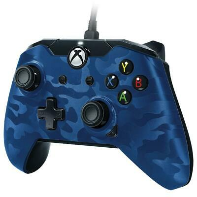 PDP Wired PC and Xbox One Controller - Blue Camo