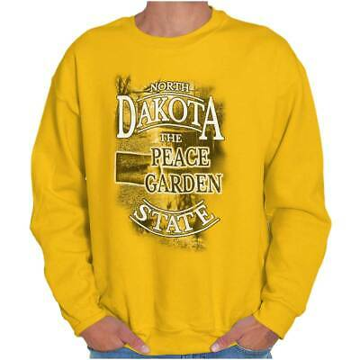 North Dakota Peace Garden State Map Tourist Crewneck Sweat Shirts Sweatshirts