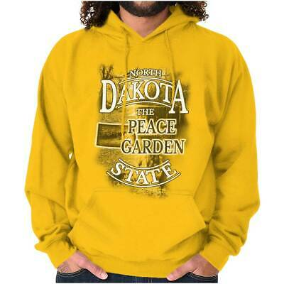 North Dakota Peace Garden State Map Tourist Hoodies Sweat Shirts Sweatshirts