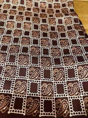 Vintage Silk Scarf Brown With Paisley