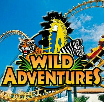 WILD ADVENTURES THEME PARK TICKETS 2 tickets Ticket Expires:12/29/2019