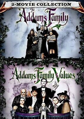 NEW DVD - THE ADDAMS FAMILY DOUBLE FEATURE - Anjelica Huston, Raul Julia, Christ
