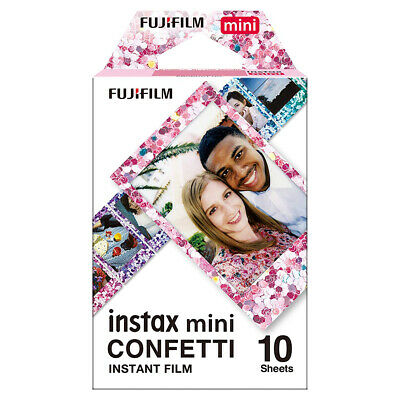 Fujifilm Instax Mini 10 Sheets Confetti Film - Fuji 8 9 50s 70 90 Camera Photos