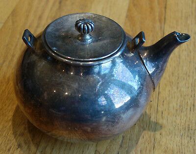Vintage silver plate tea pot Newport by Gorham, without handle