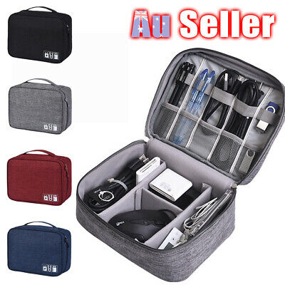 Electronic Accessories Cable Charger AU Storage Travel Case Organizer Bag USB