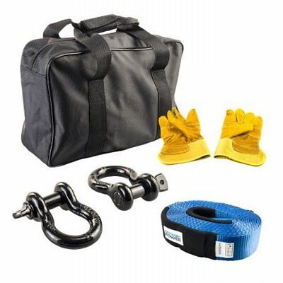 NEW 5 Pieces Dynamic Power Heavy Duty Winch Recovery Kit Off-road Adventure Trip