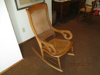 Antique Lincoln Cane Rocking Chair c1900