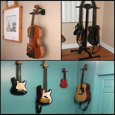 Adjustable 4Pcs Guitar Hanger Wall Mount Display Bracket Hook Holder Bass Stands