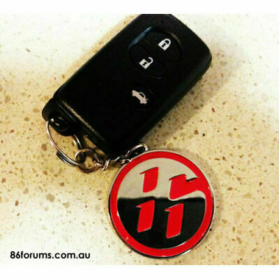RED 86  Keyring Key Chain FOB FOR TOYOTA FR ZN6 GT86 FT86 GTS SCION FR-S FRS