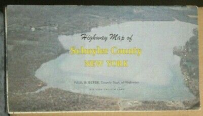 1974 Promotional Highway Map of Schuyler County, New York