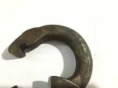 Old or Antique Iron/Brass heavy strong padlock lock with its original 2 keys