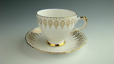 Queen Anne 96 GOLD TRIM Cup and Saucer Set EXCELLENT