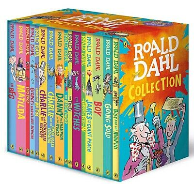Roald Dahl Collection 16 Books Box Set - The BFG, Matilda, The Witches   NEW