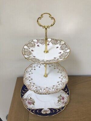Vintage China 3 Tier  Cake Stand For Weddings & Afternoon Tea Partys