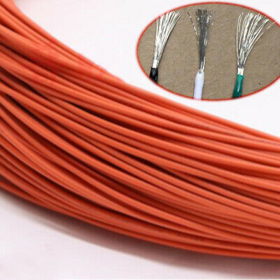 16~30AWG Orange Electronic Wire UL1007 Flexible Stranded Cable Cord Tin Copper