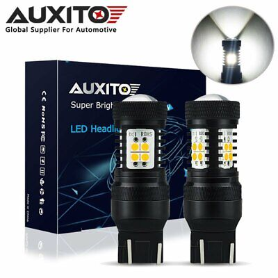 2X AUXITO 7443 T20 W21W LED Sidelight DRL Reverse Back up Bulbs 6000K White