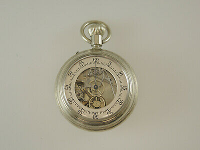 Rare Swiss DOUBLE SIDED CHRONOGRAPH Pocket Watch c1890