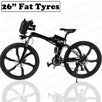 """Electric bike EBike 350W 36V 10Ah Lithium battery 26"""" Fat tyres mountain bicycle"""