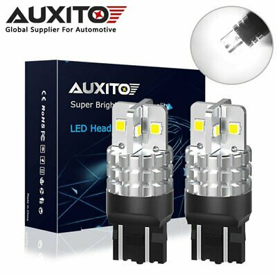 2X Auxito 7443 T20 582 W21W Sidelight Drl Parking Light Bulbs 6000K White Wedge