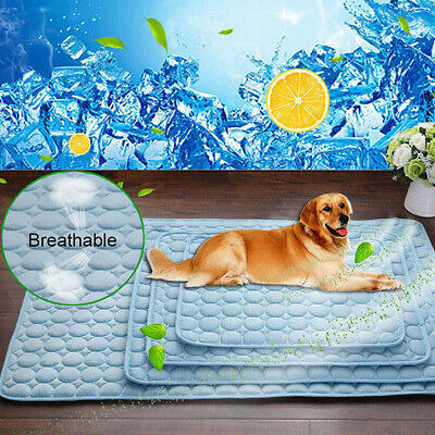 CA Pet Cat Chilly Non-Toxic Summer Cool Bed Pad Cushion Indoor Dog Cooling Mat