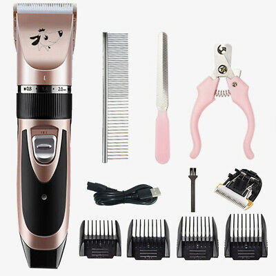Low Noise Pet Dog Cat Grooming Clipper Hair Trimmer Electric Shaver Scissors Set