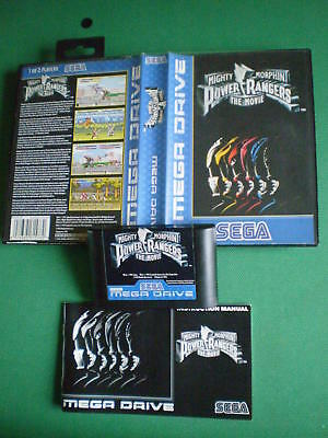 SEGA MEGADRIVE Mighty Morphin POWER RANGERS The Movie Complet Boxed Manual PAL
