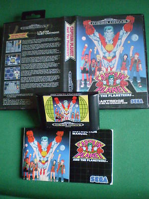 SEGA MEGADRIVE CAPTAIN PLANET AND THE PLANETEERS Complet Boxed Manual PAL