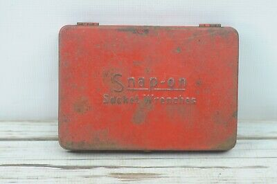 Vintage Snap On SnapOn Tool Case Toolbox Tool Chest Socket Wrenches Case Only