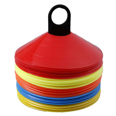 10pcs/set  Soccer Discs Bucket Marker Training Sign Flat Cones Marker Discs A*