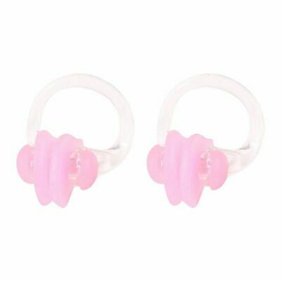 2X(Protective silicone nose clip pink - 2 pieces T8T7)