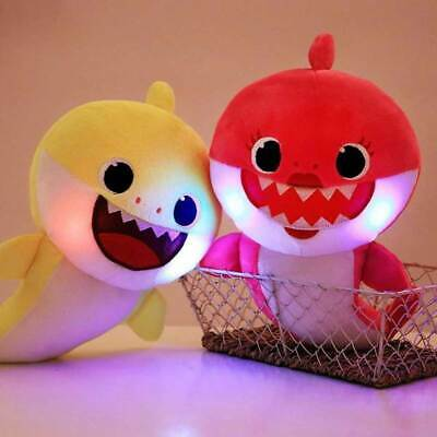 Cute Gift Plush Toy Children 3 Colors Kids Soft Light Singing Baby Shark Doll