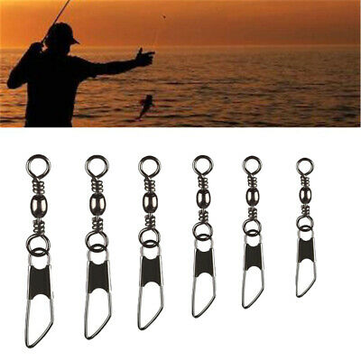 100 Pcs Barrel Rolling Swivels Sea Fishing Tackle Rigs Links Connector All Size