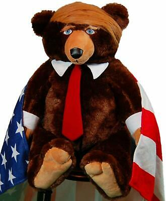 Trumpy Bear Authentic Donald Trump Teddy Bear Real With Flag Missing Certificate