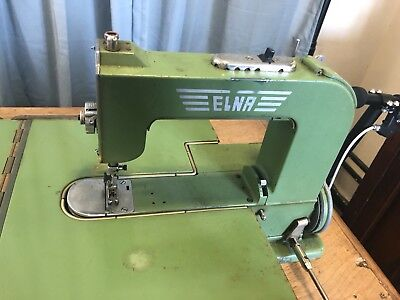 Vintage Elna Swiss Made Type 500970 W55 Grasshopper Sewing Machine With Metal Ca