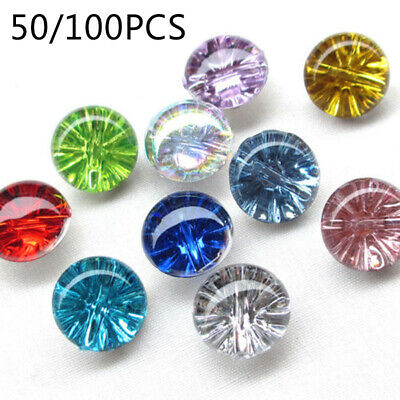 50/100Pcs Mixed Plastic Buttons Sewing Half Ball Candy-color Buttons DIY Craft