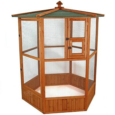 Large Wooden Aviary Bird House Canary Budgie Finch Love Bird Small Pet Shelter