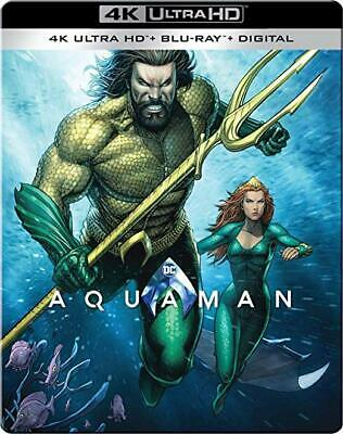 New! Aquaman 2-Disc 4K Limited Edition SteelBook (Region Free Blu-ray + Digital)
